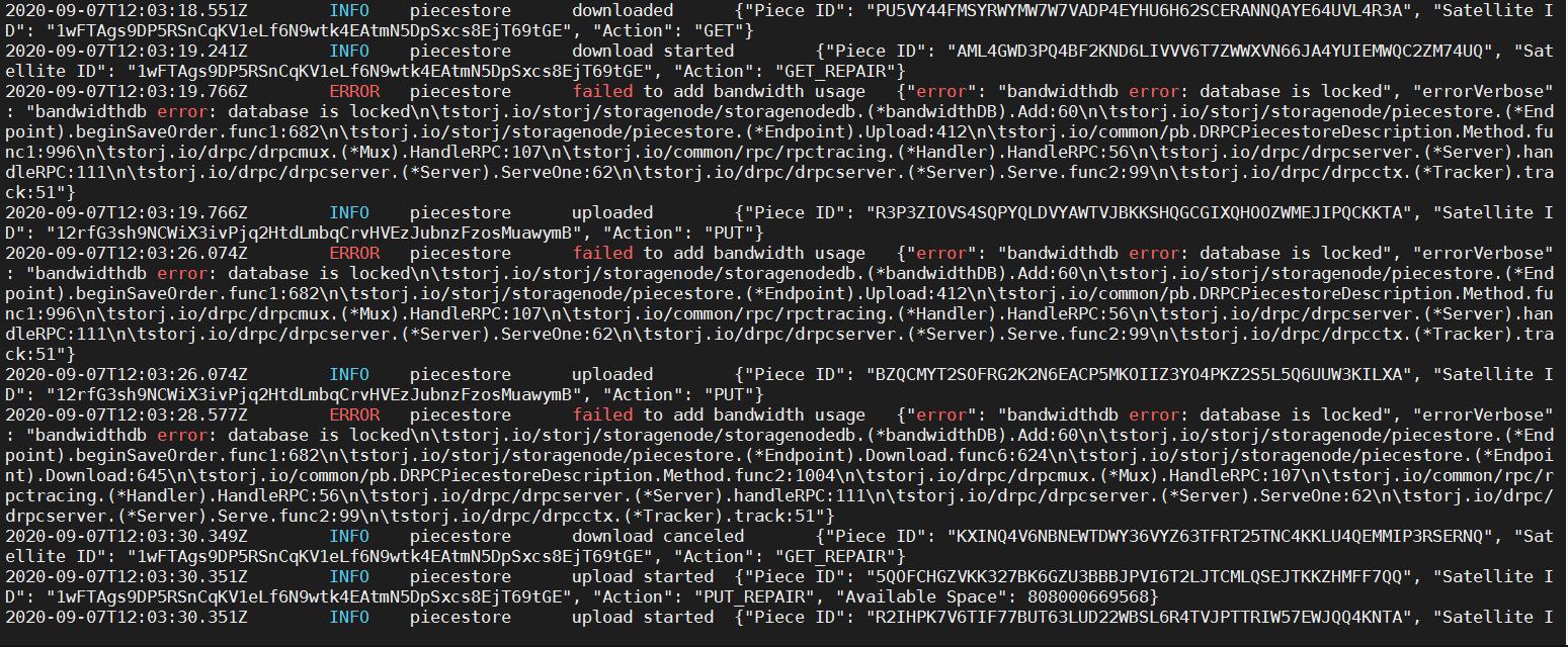 error picture failed to add bamdwidthusage.